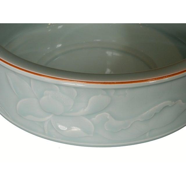 Hand Carved Celadon Bowl - Image 5 of 6