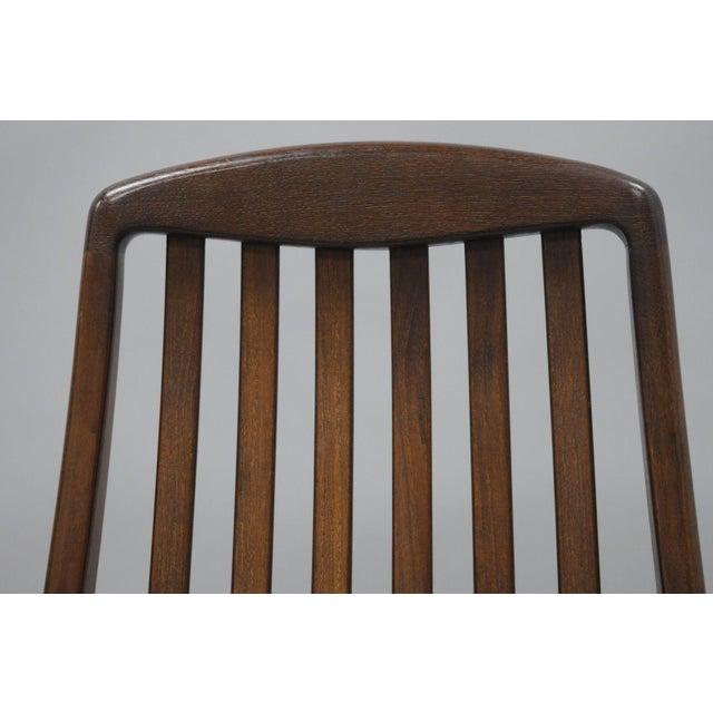 Dyrlund Vintage Dyrlund Mid Century Danish Modern Teak Dark Wood Dining Side Chair For Sale - Image 4 of 11