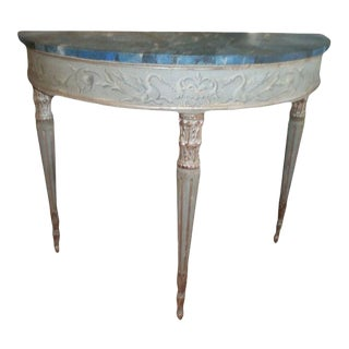 19th Century Italian Neoclassical Style Console Table For Sale