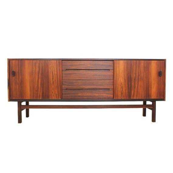 Mid Century Modern Rosewood Credenza by Nils Jonsson for Troeds For Sale - Image 10 of 10