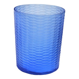 Bungalow 5 Risa Hurricane Vase, Blue For Sale