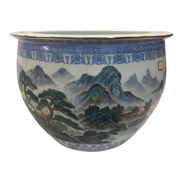 Chinese Fish Bowl Jardiniere For Sale