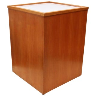 Teak Mid-Century Light Box Display Pedestal