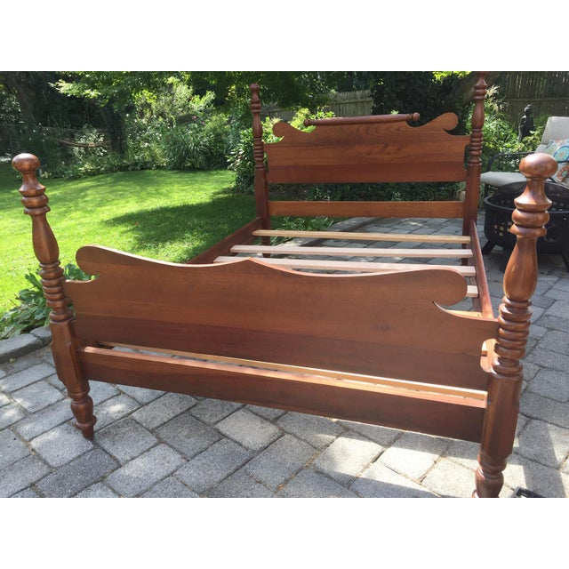 Wood 20th Century Full-Size Cherry Bedframe For Sale - Image 7 of 13
