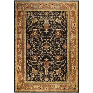 Kafkaz Peshawar Alla Drk. Blue/Brown Wool Rug -9'11 X 13'9