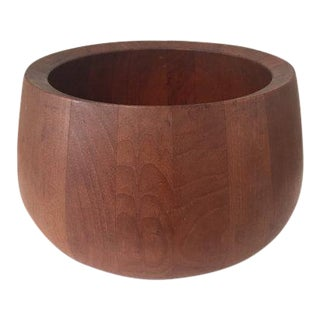 1960s Mid-Century Modern Dansk Teak Salad Bowl For Sale