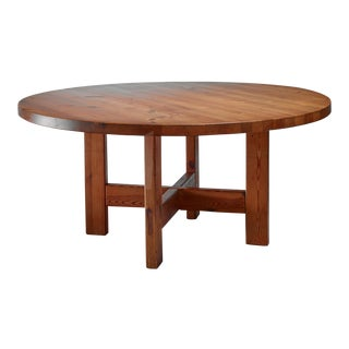 Roland Wilhelmsson Pine Table, Sweden, 1960s For Sale