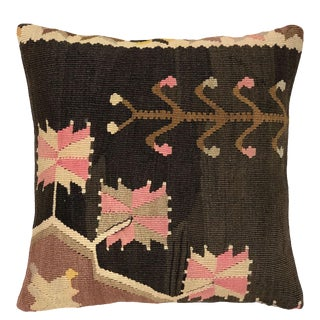 """Patterned Pink Kilim Pillow 