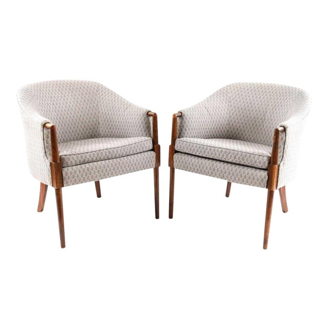 Mid-Century Vintage Ward Bennett Style Chairs- A Pair For Sale