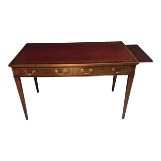 English Tooled Leather Top Desk