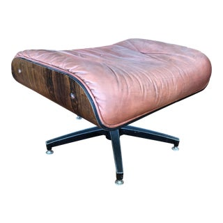 1950s Vintage Eames Style Rosewood Ottoman For Sale