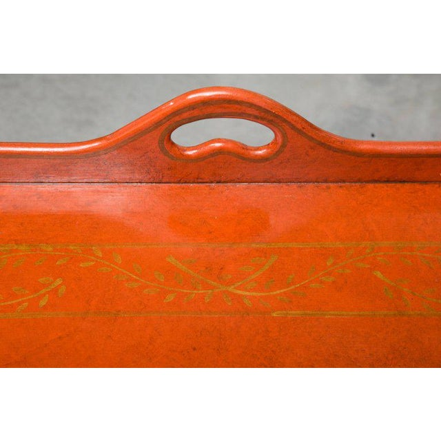 Traditional Painted, Decorated, and Lacquered Tray Table For Sale - Image 3 of 10