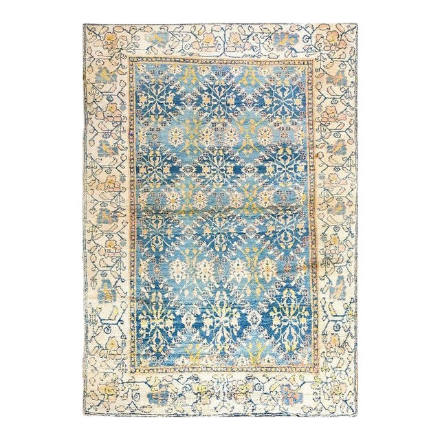 Antique Indian Agra Cotton Rug For Sale