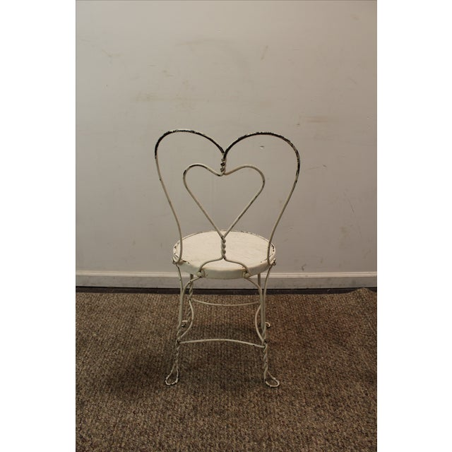 Vintage Ice Cream Heart-Back Wire Side Chair - Image 4 of 11