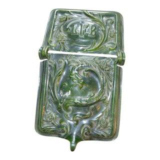 Antique Porcelain & Enamel Dragon Motif Coal Scuttle For Sale