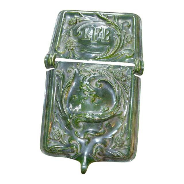 Antique Porcelain & Enamel Dragon Motif Coal Skuttle For Sale