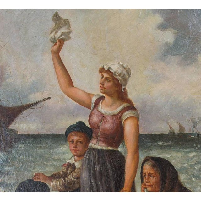 Realism 19th Century Oil on Canvas After Fernand Marie Eugene Le Gout-Gerard For Sale - Image 3 of 4