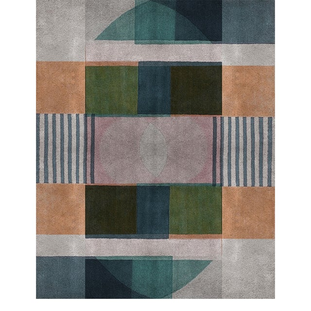 An inspiration in the conception of geometric forms with a modern appearance by neutral tones and overlays of forms. A...