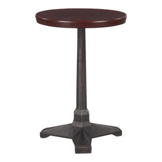 1930s French Art Deco Bakelite and Iron Bistro Table by Fischel For Sale