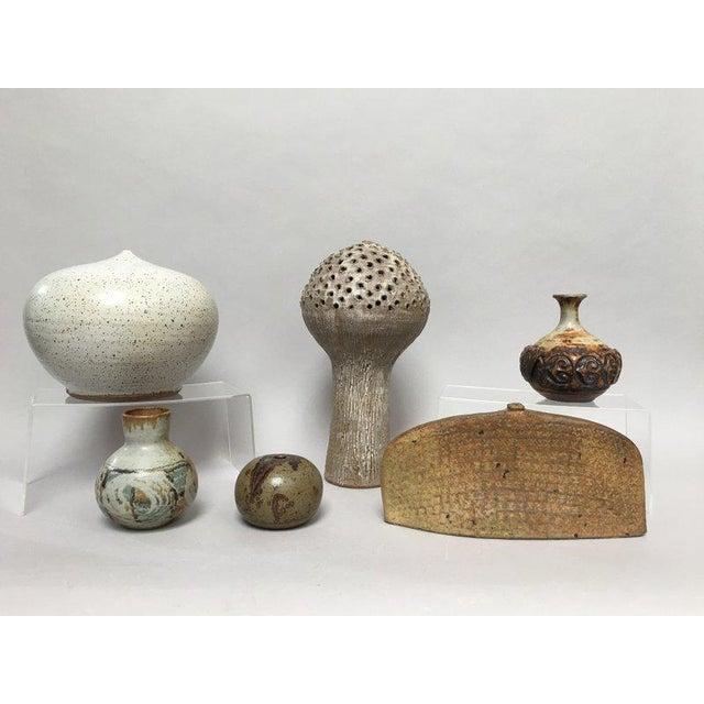 Closed Form Vase Studio Pottery Ceramic Vessel For Sale - Image 9 of 10
