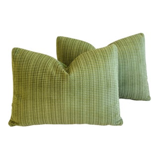 "Italian Scalamandre Velvet Feather/Down Pillows 23"" X 17"" - Pair For Sale"