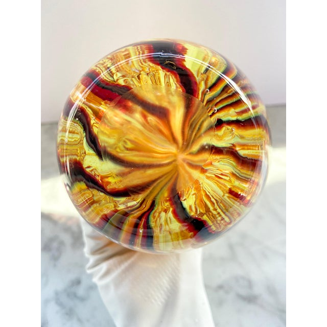 1960s Murano Swirl Glass Vase With Handles For Sale In Providence - Image 6 of 7