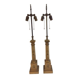 French Tole Lamps - a Pair