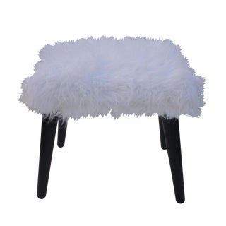 Vintage Faux Fur Bench For Sale