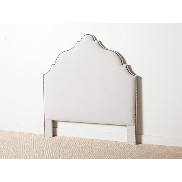2010s Contemporary Morocco White Queen Headboard For Sale - Image 5 of 5