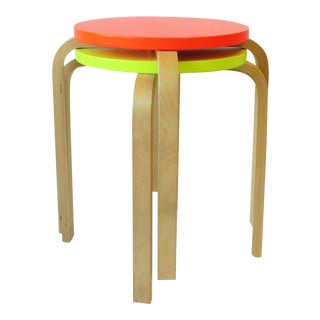 Neon Stacking Stools, Pair For Sale