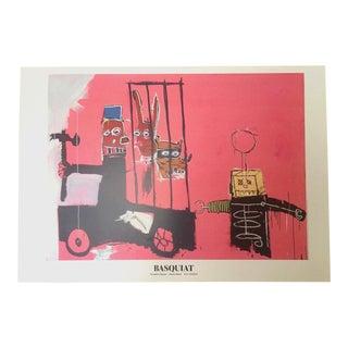 "Jean Michel Basquiat Rare Vintage Offset Lithograph Print Swiss Exhibition Poster ""Molasses"" 1983 For Sale"