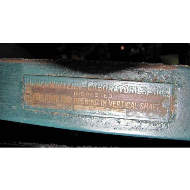 Reclaimed Metal Two Panel Fire Door - Image 4 of 5