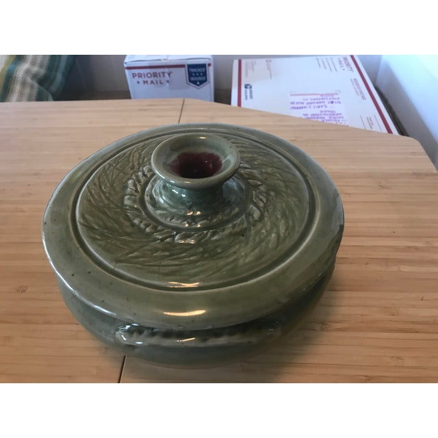 Studio Pottery Lidded Casserole Dish For Sale - Image 4 of 10