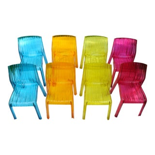 Kartell Frilly Chairs - Set of 8 For Sale