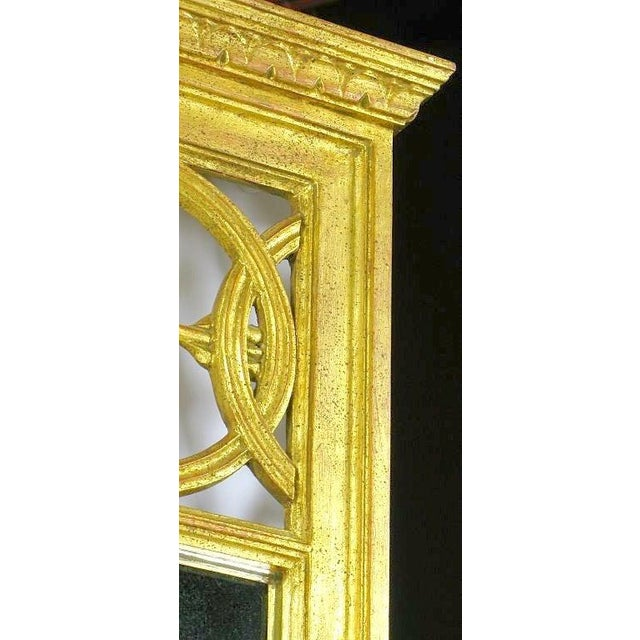 Empire Large Italian Empire Gilt Mirror For Sale - Image 3 of 7