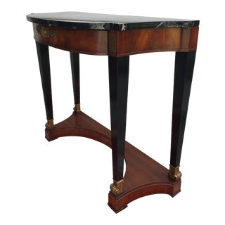 Contemporary Traditional Heirloom Wieman Console Side Table