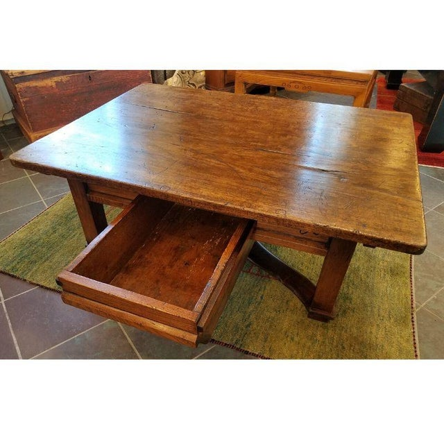 Rustic French Oak Coffee Table For Sale In Milwaukee - Image 6 of 10