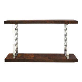 Universal Furniture Alistair Burl Console For Sale