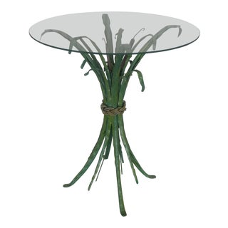 Whimsical Polychromed Sheath of Wheat Occasional Table For Sale