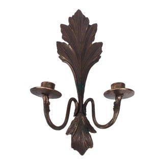 French Acanthus Leaf Candle Sconce For Sale