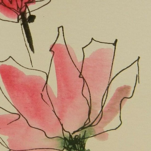 Contemporary Jose Trujillo Original Watercolor Floral Painting For Sale - Image 3 of 4