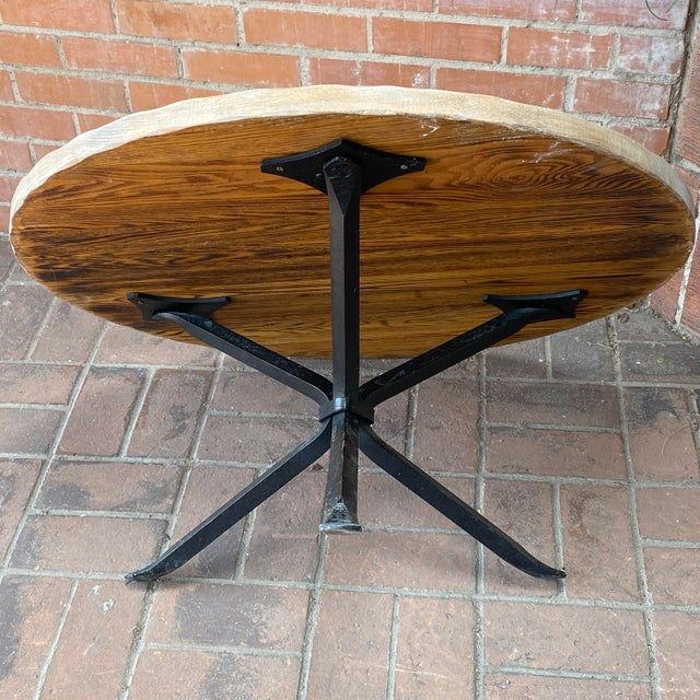Champagne Cleo Baldon Wrought Iron and Whitewashed Oak Coffee Table For Sale - Image 8 of 12