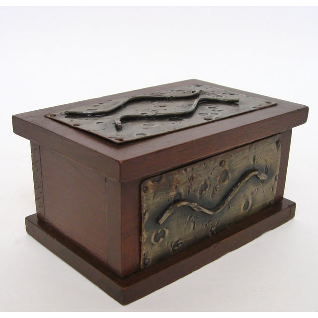 Hand-Crafted Wood & Metal Box - Image 4 of 6