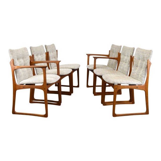 48a05afcf0f32 Vamdrup Stolefabrik Danish Teak Dining Chairs - Set of 6 For Sale