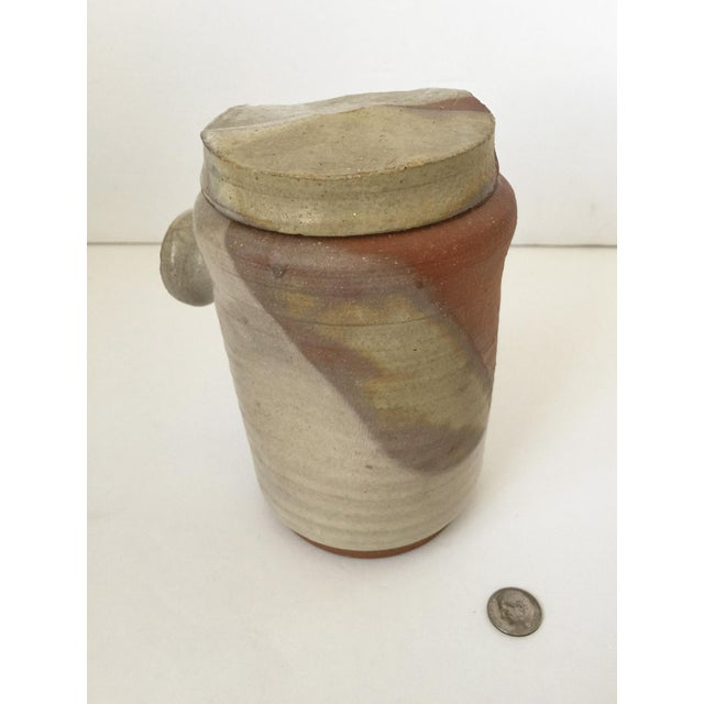 Mid Century Modern Artisan Pottery Covered Jar For Sale - Image 10 of 10