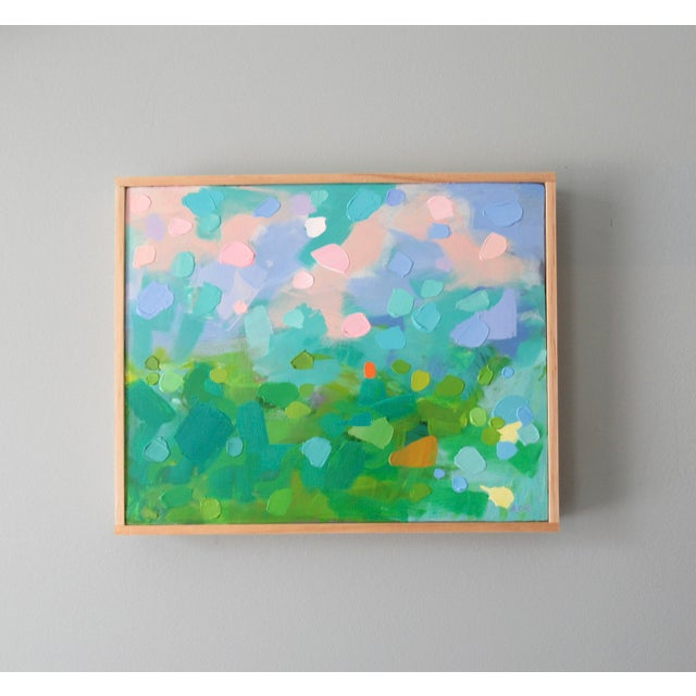 A vivid, intense abstract painting inspired by Vincent van Gogh. This is my own take on Van Gogh's painting called Green...