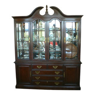 Drexel Queen Anne Style China Cabinet For Sale