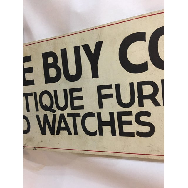 Double Sided Antique Shop Wood Sign - Image 5 of 8