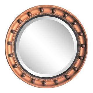 Art Deco English Bullseye Beveled Mirror, 1930 For Sale