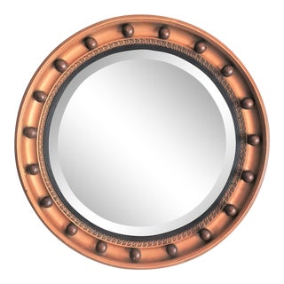 Art Deco English Convex Bullseye Mirror, 1930